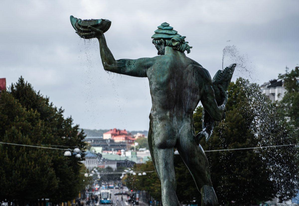 Statyn Poseidon i Göteborg