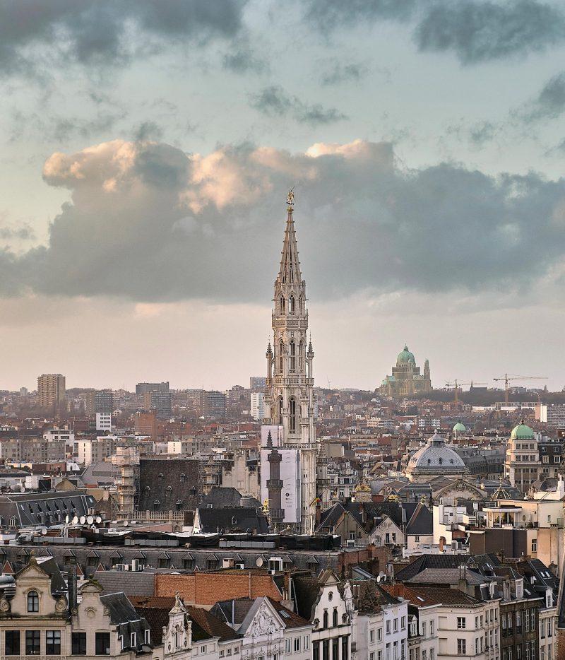 Kyrkotorn i Bryssel