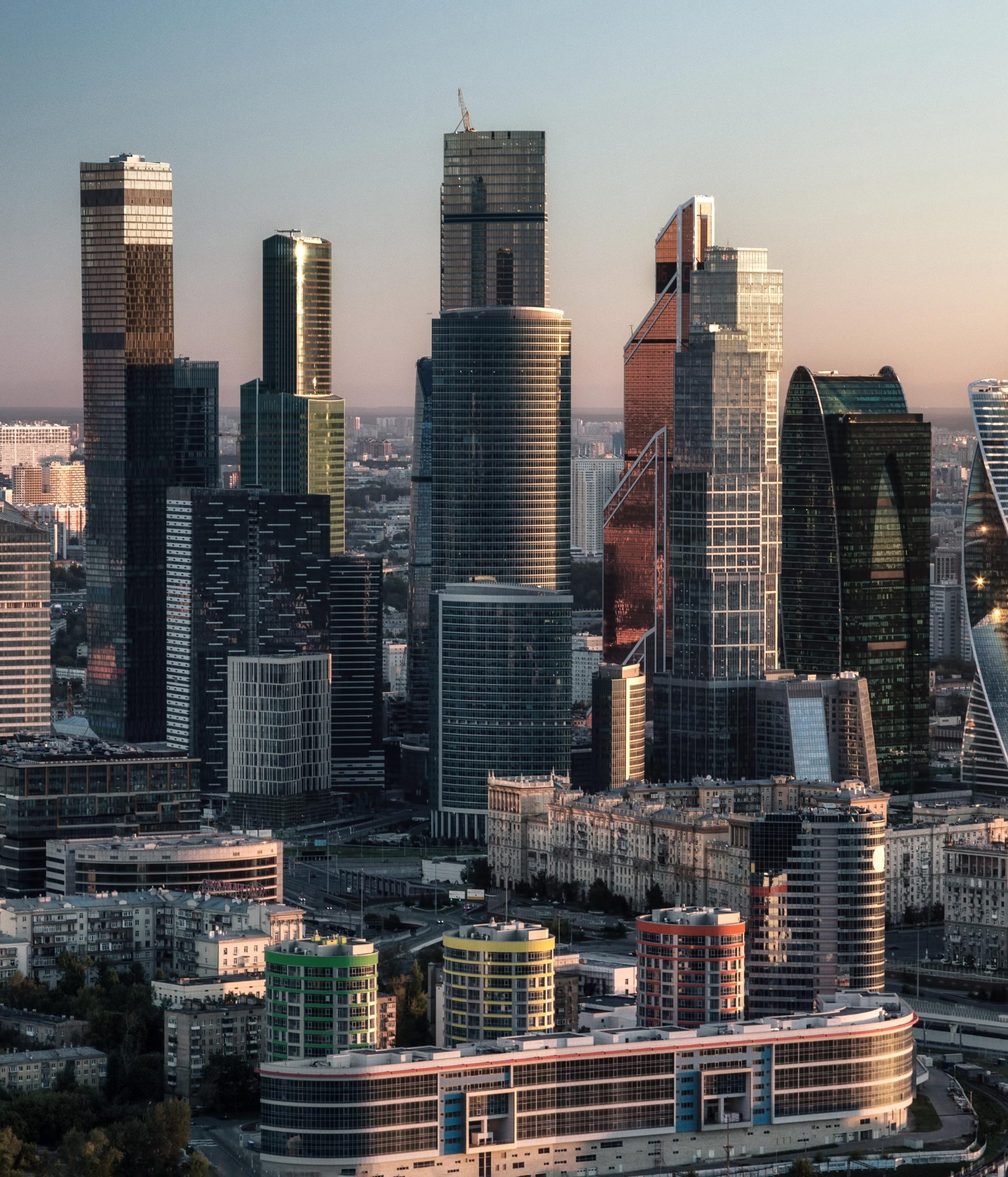 Financial district in Moscow Russia