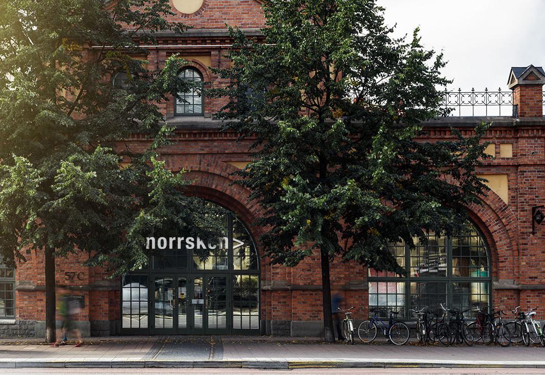 Norrskens entré i Spårvagnshallarna i Stockholm