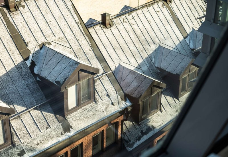 Fönsterkupor på hustak