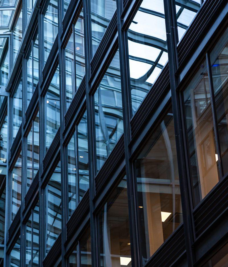 Windows at Mannheimer Swartling's office in Stockholm
