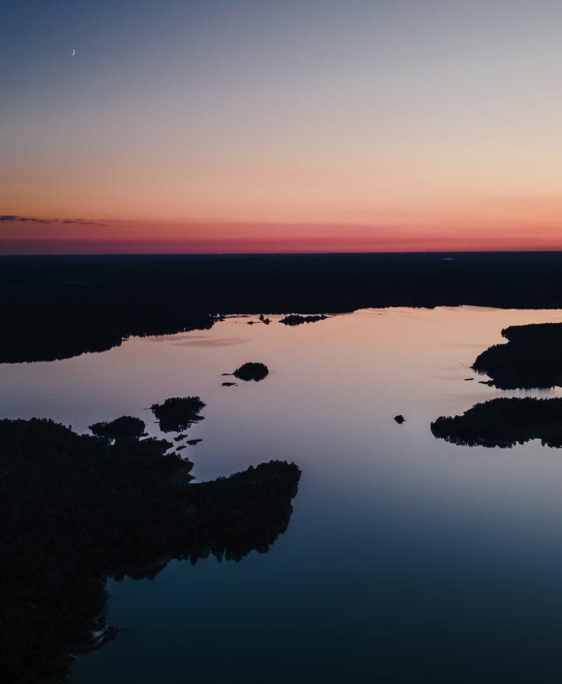 Horisont vid solnedgång