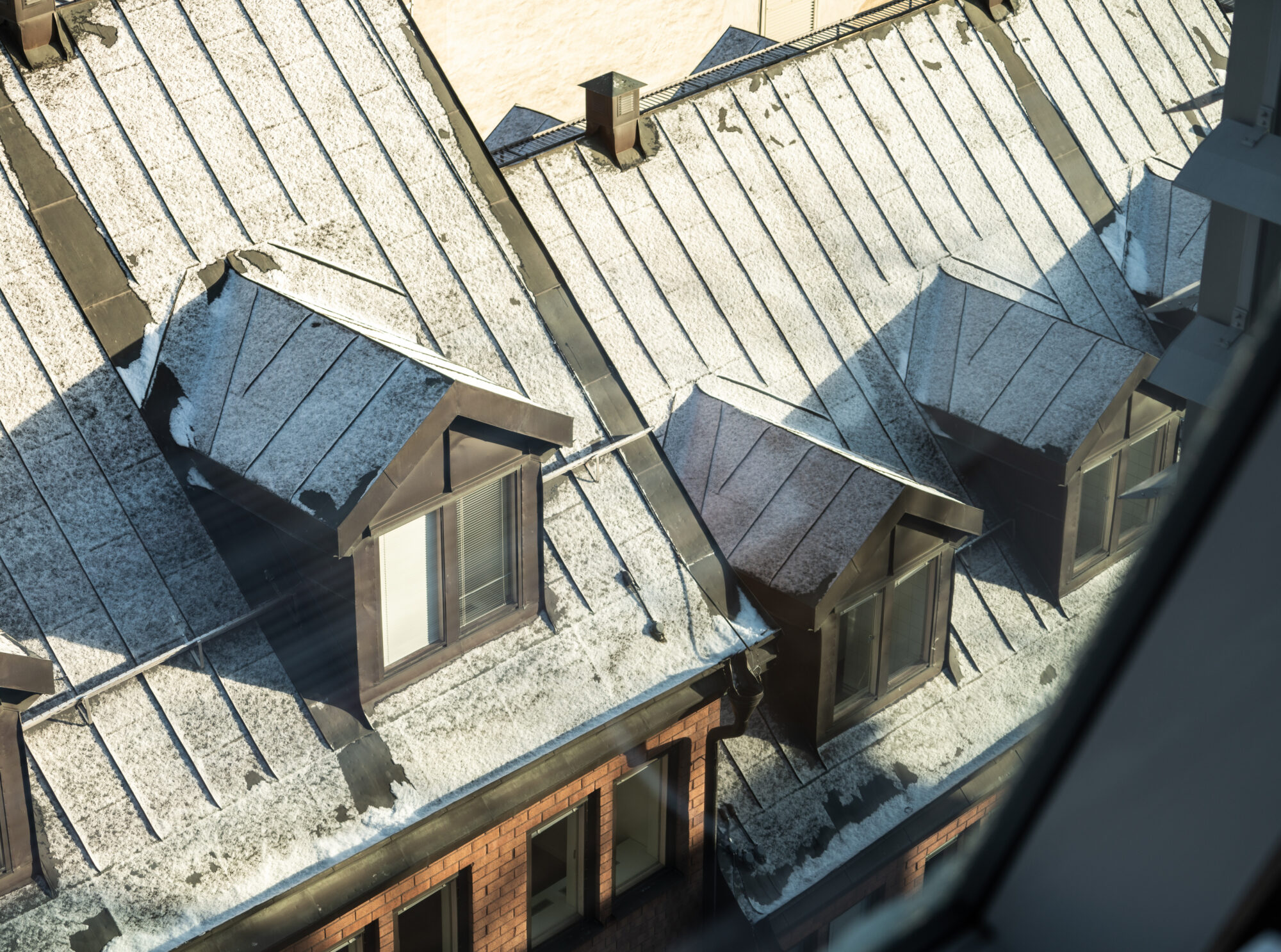 Picture of roof taken from above